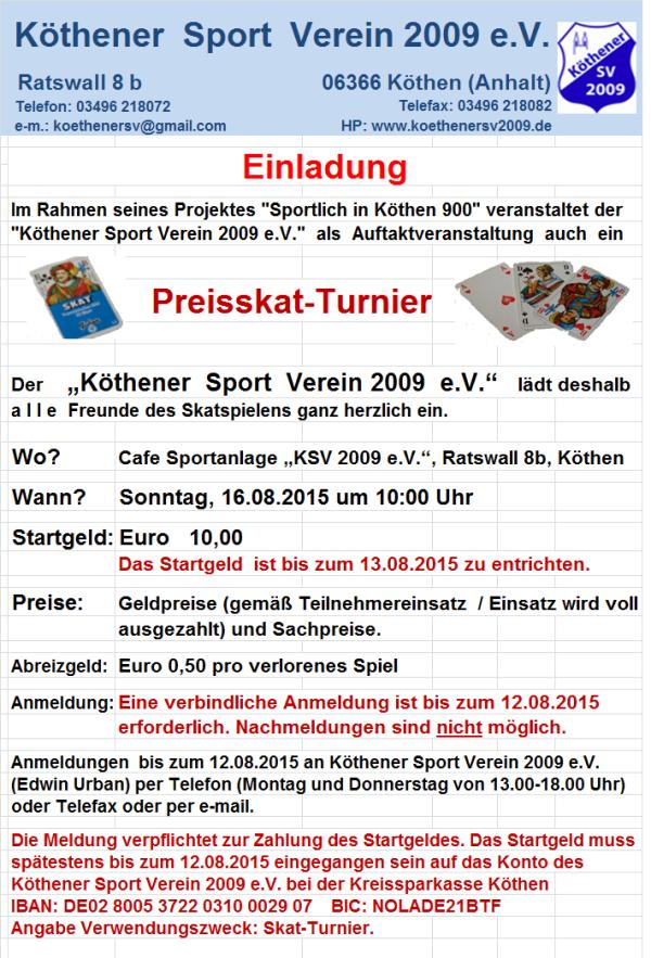 """Skatturnier (Projekt """"Sportlich in Köthen 900"""""""