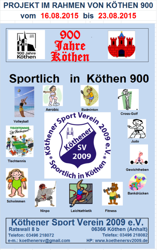 Projekt: Sportlich in Köthen 900